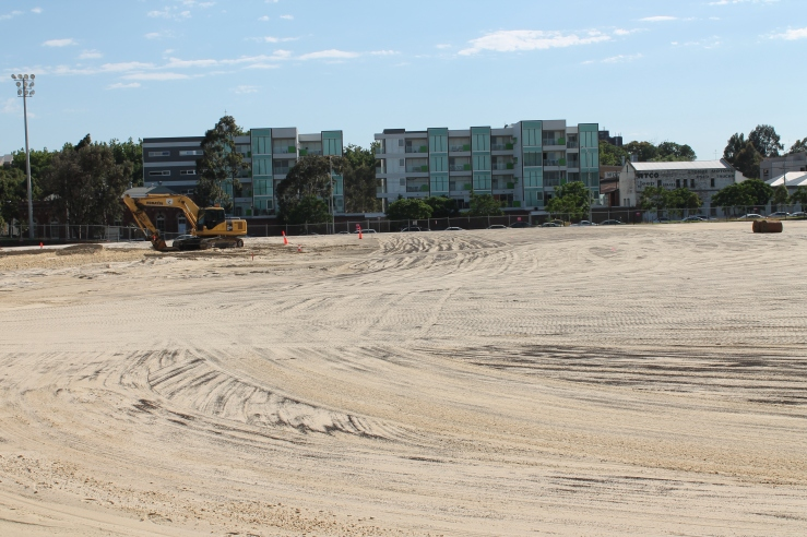 Arden St oval redevelopment December 2012