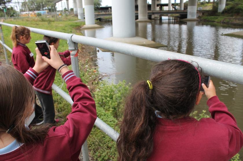 Kids filming under Citylink